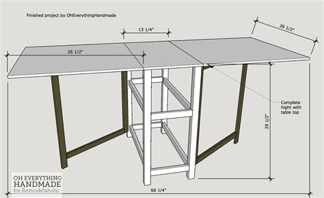 Fillable Craft Table L by Remodelaholic Foldable Craft Table Made From Scrap Wood