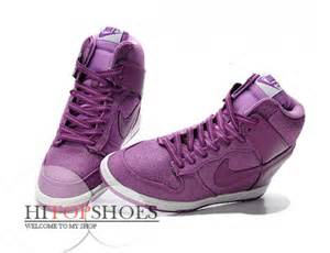 Girls Purple Nike High Top Shoes