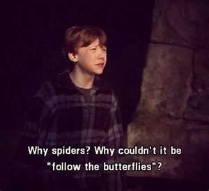ron weasley spiders | Tumblr