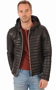 Doudoune En Cuir Homme : doudoune cuir noir homme oakwood la canadienne blouson cuir noir ~ Melissatoandfro.com Idées de Décoration