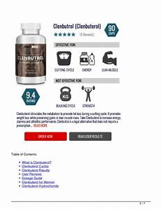 40mcg Clenbuterol Tablets And Dosage Cycle