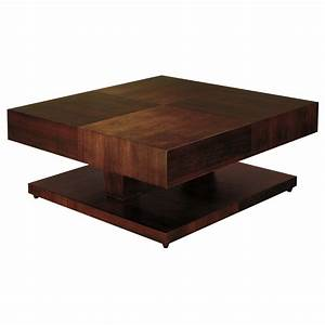 sarasota two tone cocktail table walnut square top With two tone square coffee table