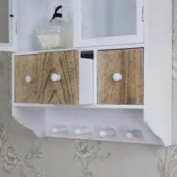 wall wooden glazed wall cabinet drawers hooks storage unit