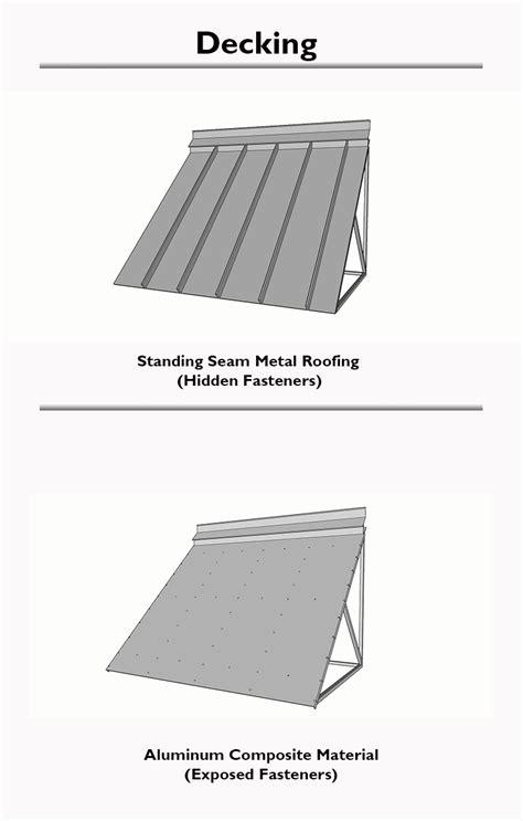 aluminum metal awning system roll formed aluminum custom canopies