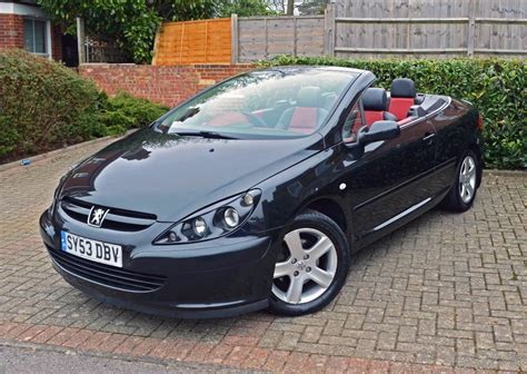 Peugeot 307 Cc by Peugeot 307 Cc Convertible Black With Leather Interior