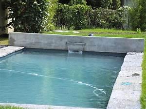 Piscine Avec Cascade : piscine creus e au coeur du jardin avec un encadrement en ~ Premium-room.com Idées de Décoration