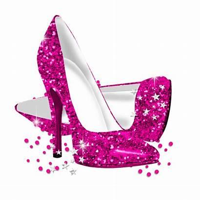 Heels Pink Gold Invitation Birthday Glitter Shoes