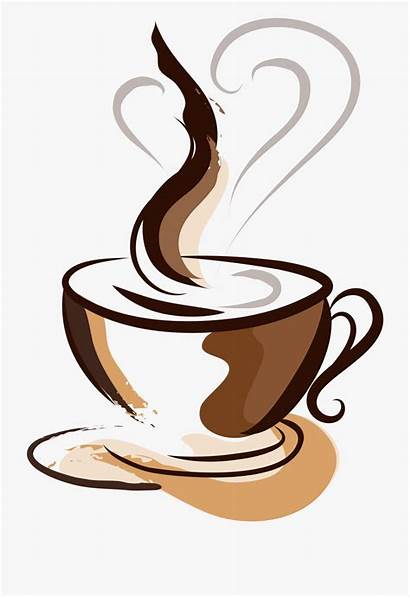 Coffee Cup Drawing Clipart Steam Cafe Linden