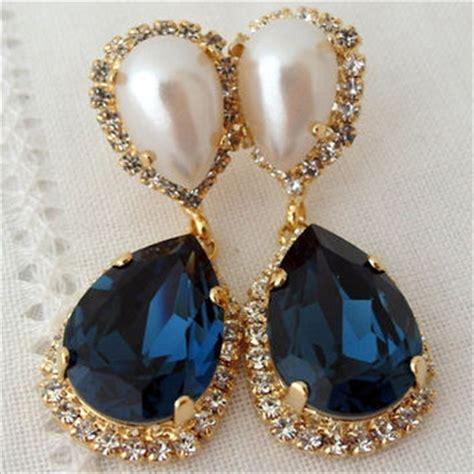 best navy blue chandelier earrings products on wanelo