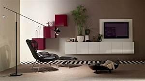 amenagement de salon meubles modernes 24 idees sympas With tapis de yoga avec canapé télé