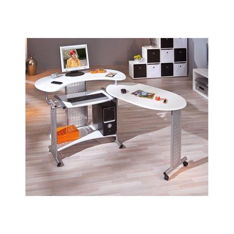 caisson bureau blanc laqu bureau d angle pivotant conceptions de maison blanzza com