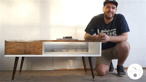 mid century modern coffee table diy modern builds ep