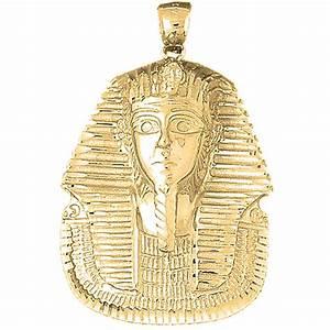 10K, 14K or 18K Gold King Tut Pendant - AZ4790DZ  10k