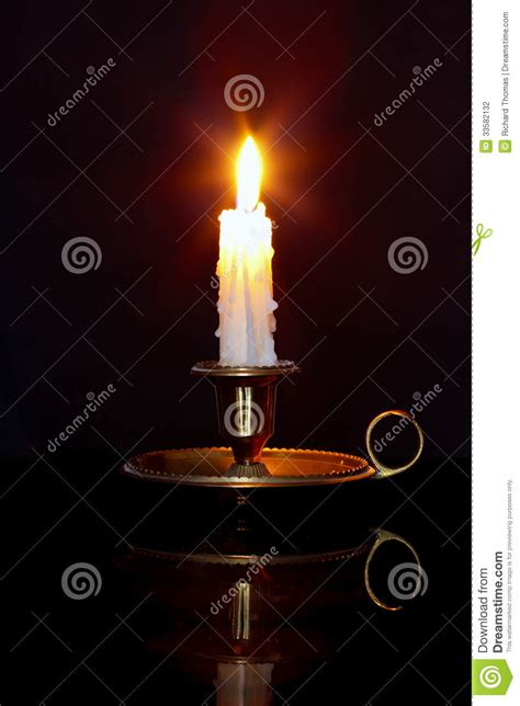 candle  brass chamberstick stock photo image  space