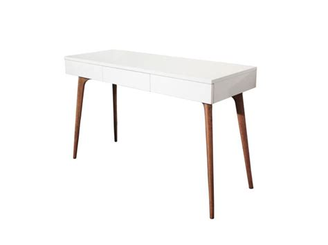 bureau console blanc console bureau design natura bois blanc contact sodezign com