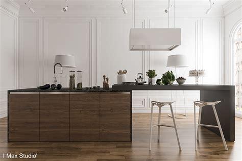 white and dark wood kitchen black white amp wood kitchens ideas amp inspiration 656 | dark wood kitchen island