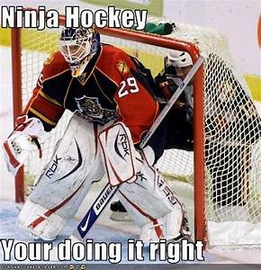 Ninja Hockey Yo... Funny Hockey Goalie Quotes