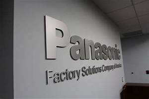 Custom, Laser, Cut, Metal, Sign, For, Panasonic, Factory, Solutions, Office, Lobby, In, Chicago