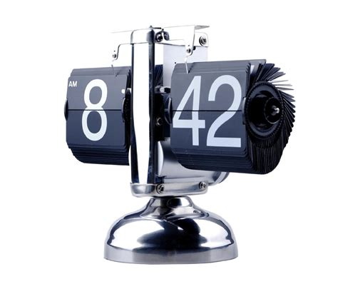 fancy retro flip down clock unique home office gadget
