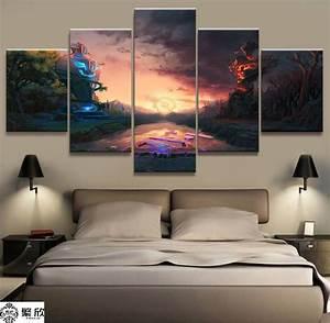 Aliexpress.com : Buy 5 Panel DOTA 2 Game Canvas Printed ...
