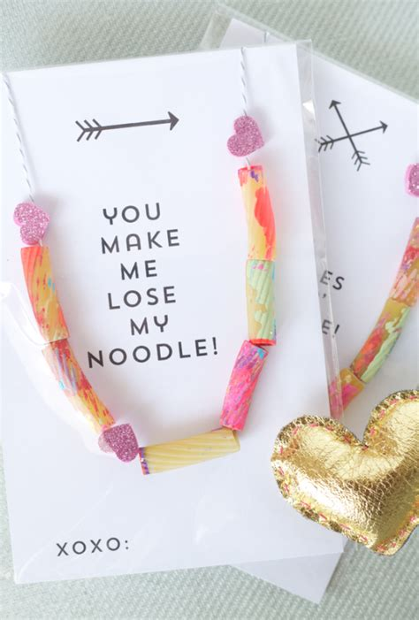 valentines day card kids s day kids card using noodles