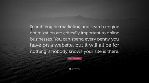 search engine optimization and search engine marketing marc ostrofsky quote search engine marketing and search