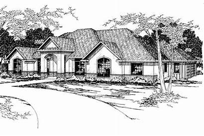 Southwest Plan Plans Barstow Designs Elevation Associateddesigns