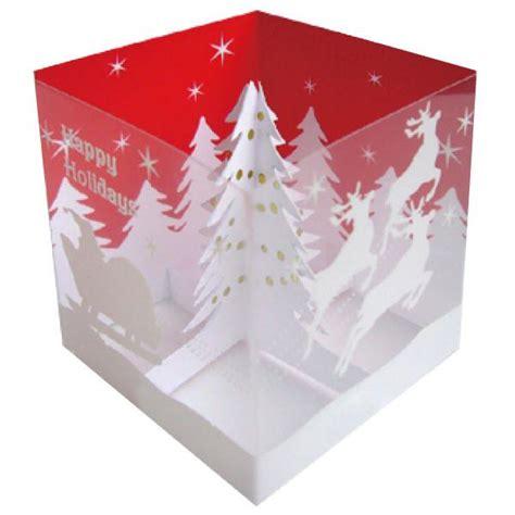 pop up card box template christmas greeting tree box pop up mini card ha 68