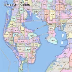 Tampa Florida Zip Code Map