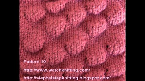 bobble stitch embossed patterns  knitting