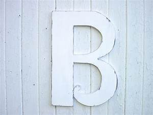 Wooden letters b 24 distressed white large wedding decor for Distressed white wooden letters