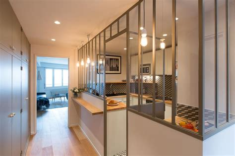 fenetre separation cuisine cuisine avec verrière