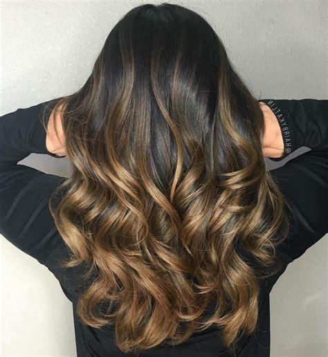 braune haare ombre braune haare mit highlights balayage technik zu hause ombre hair braune haare mit