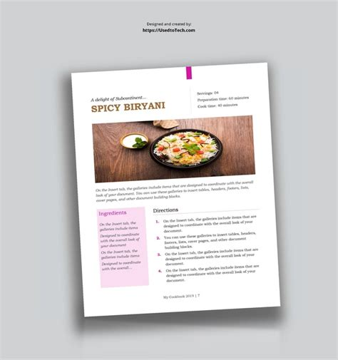 create  recipe template  microsoft word quora