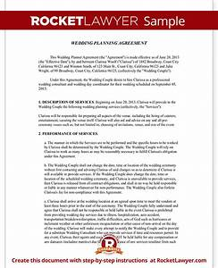 wedding planner contract template free wedding planner With wedding planner contract agreement