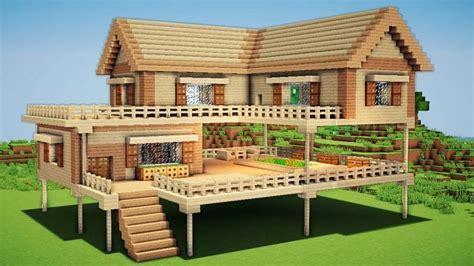 minecraft wooden house designs