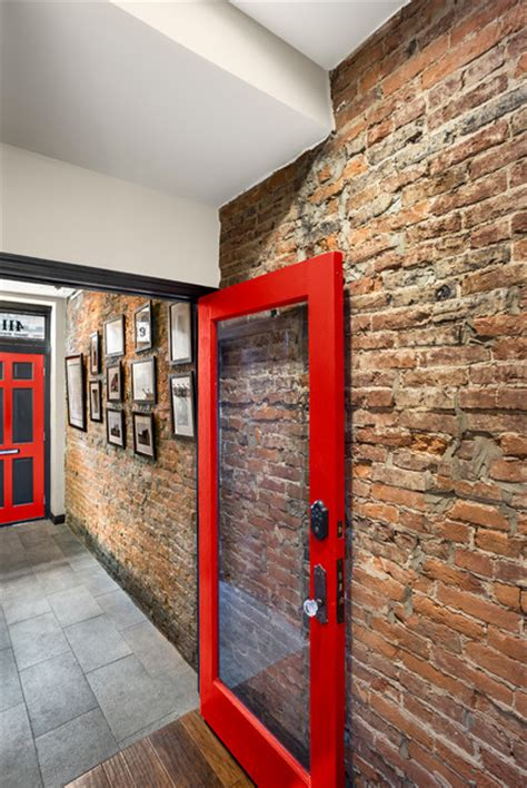 exquisite industrial entry exposed red brick features