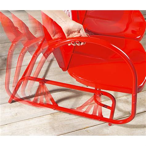 coca cola 174 glider 138512 patio furniture at