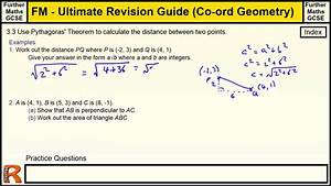 Coordinate Geometry  Distance Between 2 Points  Ultimate