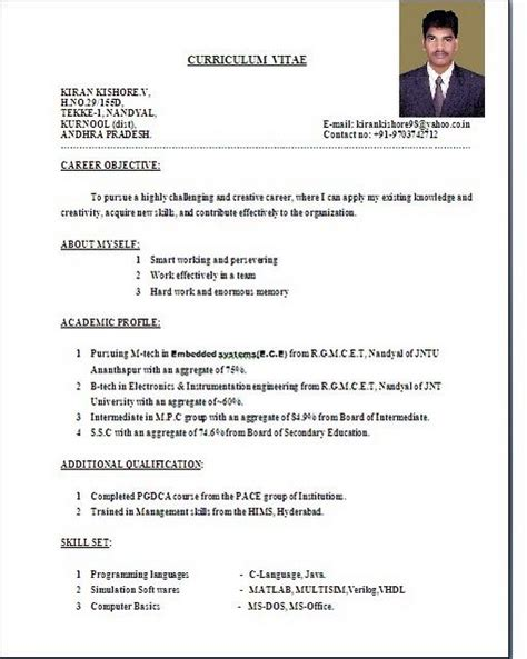 Standard Cv Format For by Pin By Teachers Reasumes On Teachers Resumes