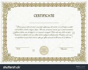 Home Design: Vector Certificate Template With Detailed ...
