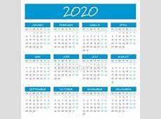 简单到 2020 年日历 — 图库矢量图像© 123sasha #162255248