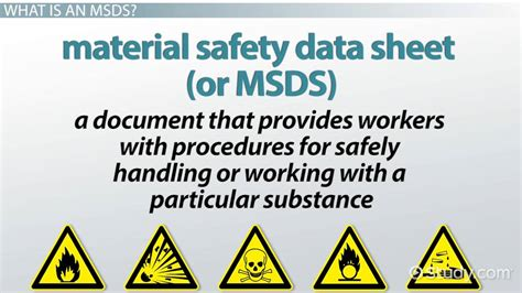 material safety data sheet msds definition purpose