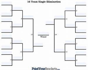 fillable 16 team tourney bracket editable bracket With 16 team bracket template