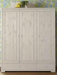 Holz Weiß Streichen Aussen : massivholz kinderschrank babyschrank kleiderschrank kiefer massiv wei ~ Whattoseeinmadrid.com Haus und Dekorationen
