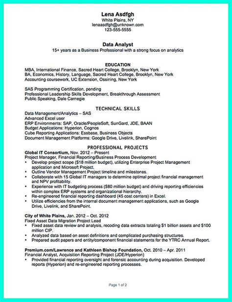 Data Warehouse Qa Analyst Resume by 2695 Best Images About Resume Sle Template And Format On Business Intelligence