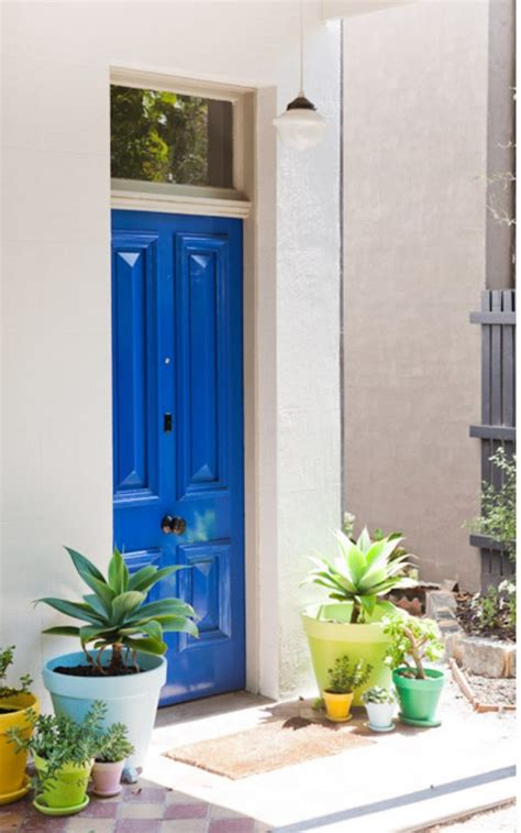 blue front door make a dramatic impression 15 painted front doors