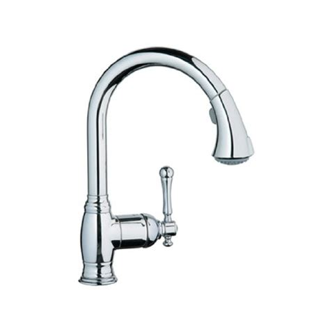 amazon grohe kitchen faucets grohe 33870en0 bridgeford pull spray kitchen faucet