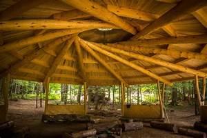 Round Timber Framed Pavilion Finished