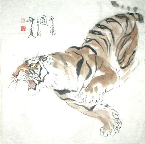 japanese white tiger art